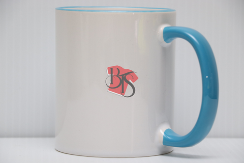 11 oz Colored Rim and Handle Mug