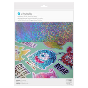 Silhouette Holographic Sticker Sheets Dot Pattern