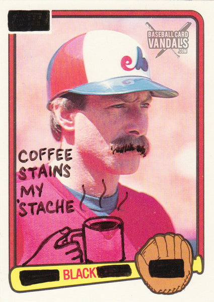 Coffee Stains My 'Stache Black
