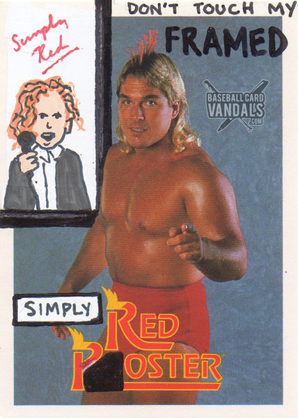 Don't Touch My Framed Simply Red Poster
