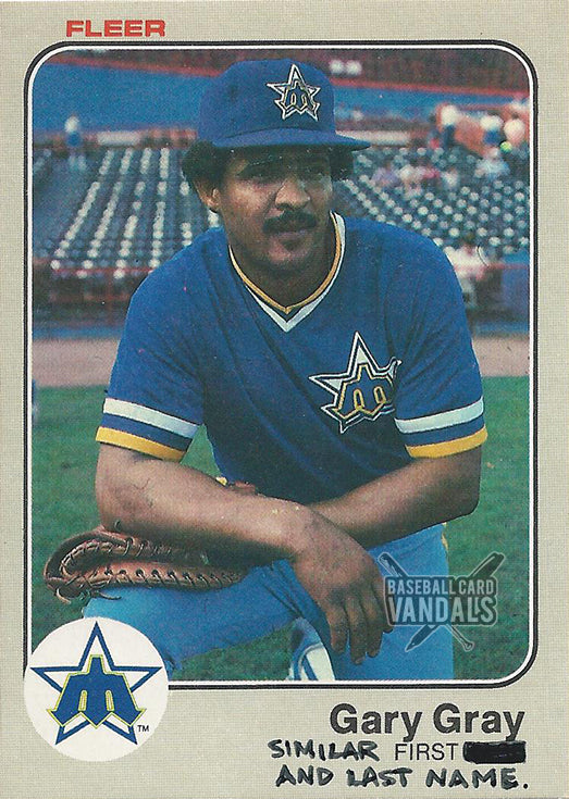 Gary Gray Similar First And Last Name Baseball Card