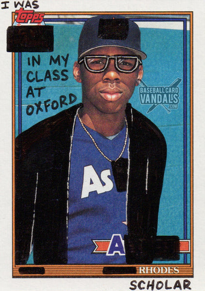 I was Topps In My Class At Oxford As A Rhodes Scholar