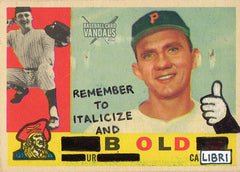 Remember To Italicize And Bold Ur Calibri – Baseball Card Vandals