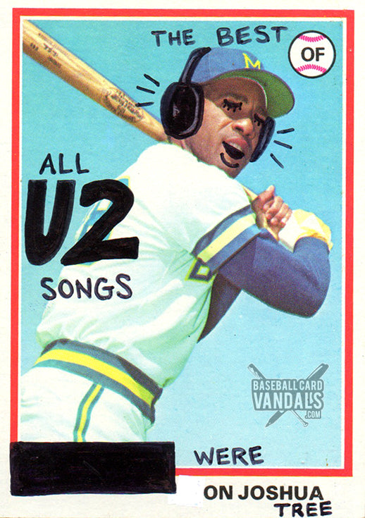 The Best Of All U2 Songs Were On Joshua Tree Baseball Card