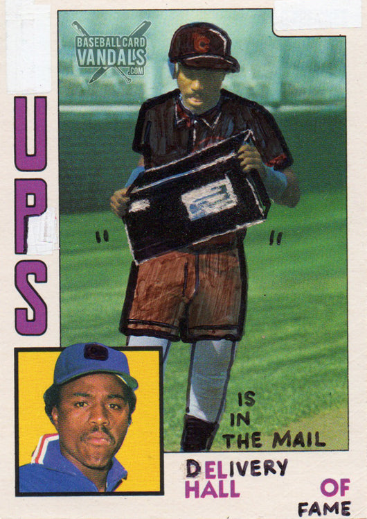 Ups Is In The Mail Delivery Hall Of Fame Baseball Card