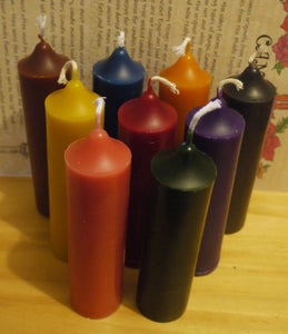 Set of 9 Beeswax Pillars