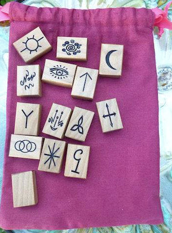 Handcrafted Blackbutt Witches Runes