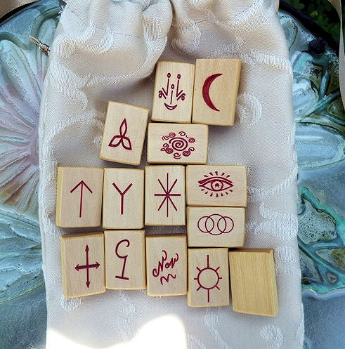Handcrafted Huon Pine Witches Runes