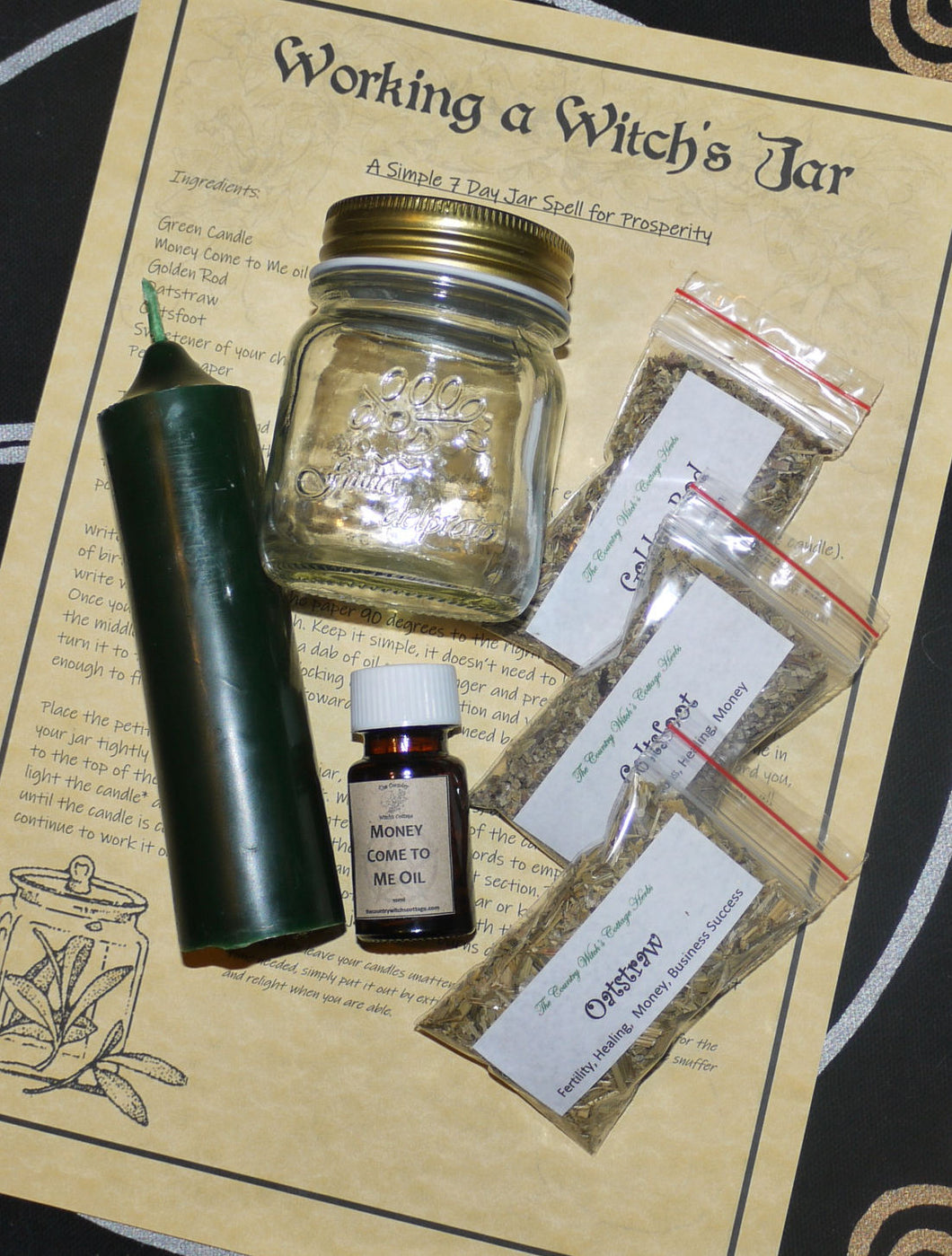 Working tjhe Witch's Jar Prosperity Kit