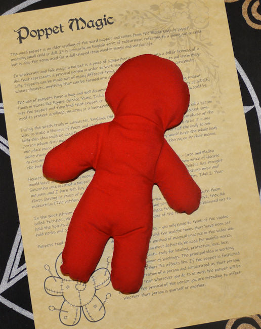 Handmade Red Poppet