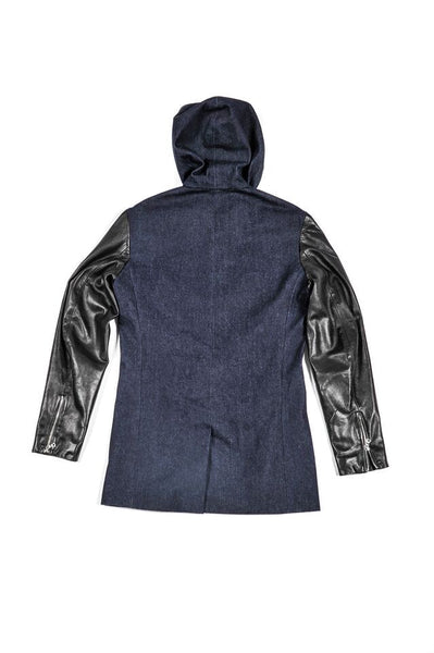 Tribeca Denim Leather Hoodie