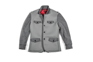 Flatiron Grey Neoprene Wool Jacket