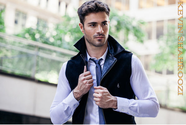 Sutton Place Suede & Leather Vest