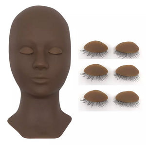 Lash That Doll Luxury Mannequin Head with Replacement Eyelids
