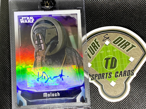 2021 Star Wars Signature Series Autographs #AHD Harley Durst as Moloch