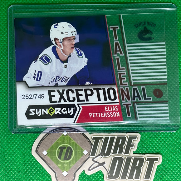 2018-19 Synergy Exceptional Talent #ET42 Elias Pettersson 252/749