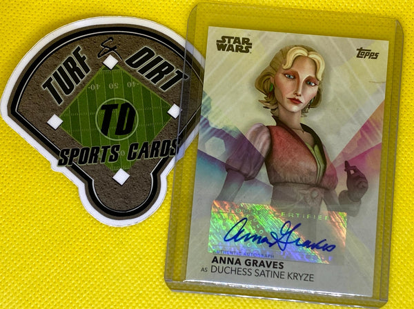 2020 Women of Star Wars Autographs #AAG Anna Graves as Duchess Satine Kryze