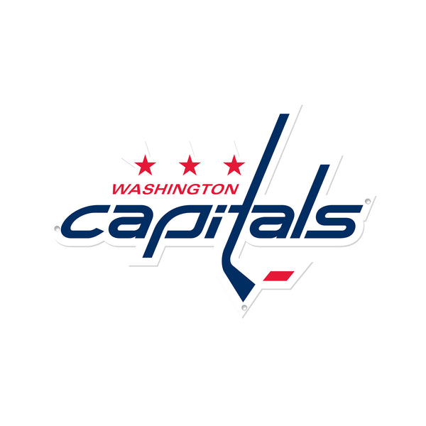 Washington Capitals Laser Cut Steel Logo Spirit Size-Primary Logo