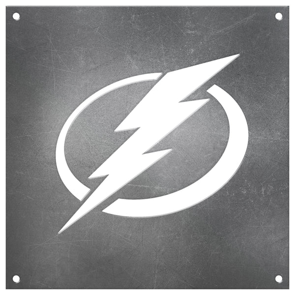 Tampa Bay Lightning Laser Cut Raw Steel Sign Spirit Size-Primary Logo