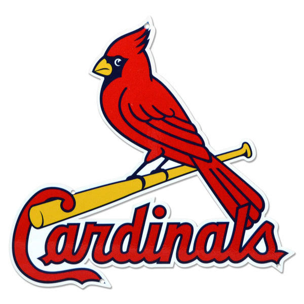 St Louis Cardinals Laser Cut Steel Logo Statement Size-Bird on Bat
