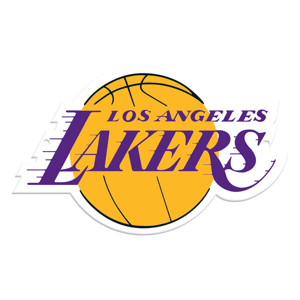 Los Angeles Lakers Laser Cut Steel Logo Spirit Size-Primary Logo
