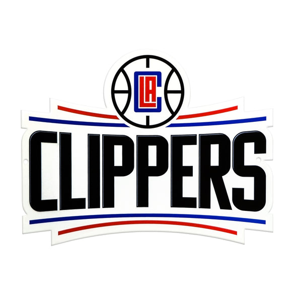 Los Angeles Clippers Laser Cut Steel Logo Spirit Size-Primary Logo