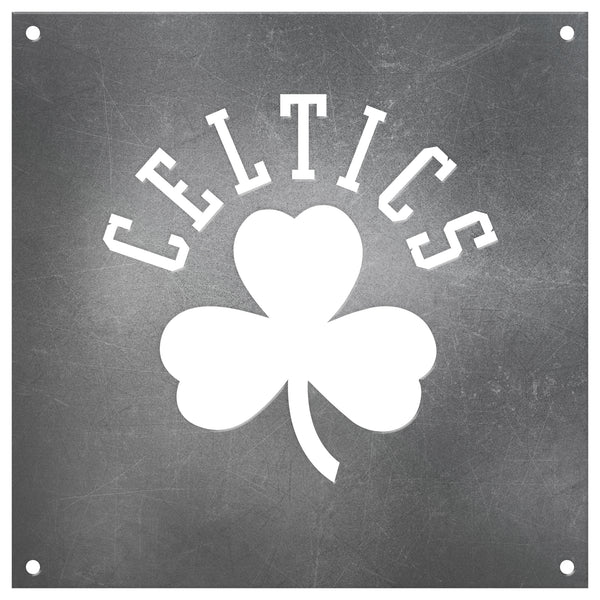 Boston Celtics Laser Cut Raw Steel Sign Statement Size-Primary Logo