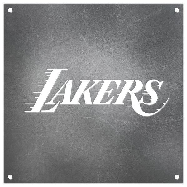 Los Angeles Lakers Laser Cut Raw Steel Sign Statement Size-Primary Logo