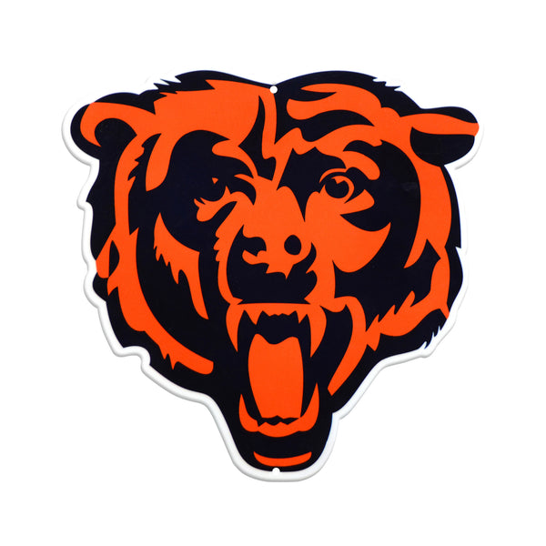 Chicago Bears Laser Cut Steel Logo Spirit Size-Primary Logo