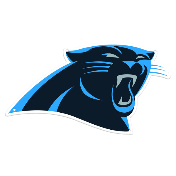 Carolina Panthers Laser Cut Steel Logo Statement Size-Primary Logo