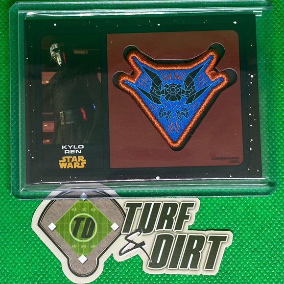 2019 Star Wars Journey to The Rise of Skywalker Commemorative Patches Black #PCKRT Kylo Ren 28/99