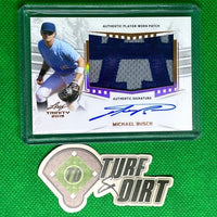 2019 Leaf Trinity Patch Autographs #PAMB1 Michael Busch