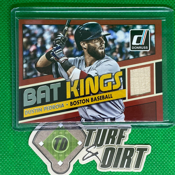 2015 Donruss Bat Kings #9 Dustin Pedroia GAME USED