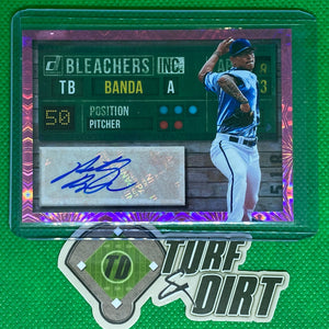 2019 Donruss Bleachers Inc. Autographs Pink Firework #10 Anthony Banda