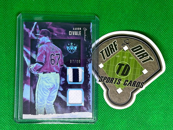 2020 Diamond Kings DK Materials Holo Silver #56 Aaron Civale #97/99