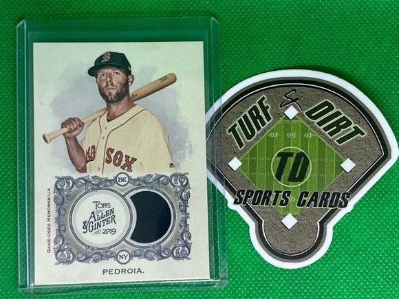 2019 Topps Allen and Ginter Relics #FSRBDP Dustin Pedroia B GAME USED