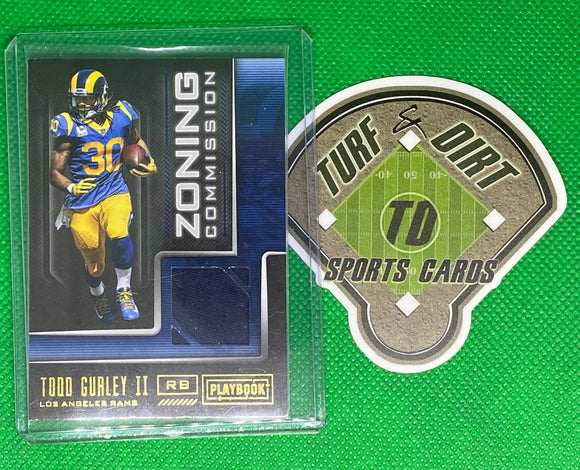 2018 Panini Playbook Zoning Commission Materials #23 Todd Gurley II