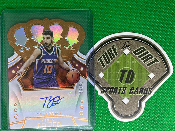 2019-20 Crown Royale Crown Rookie Autographs #9 Ty Jerome 9/99