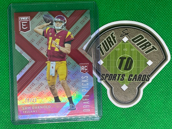 2018 Elite Draft Picks Aspirations Red #101B Sam Darnold/(red jsy) 6/49