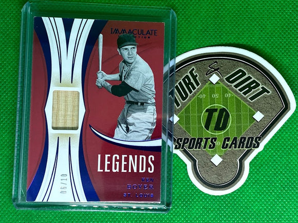 2020 Immaculate Collection Legends Material Blue #11 Ken Boyer #6/10