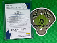 2019 Immaculate Collection Immaculate Swatches Laundry Tag #55 Dee Gordon 3/10
