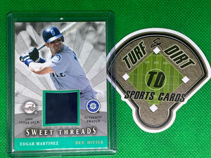 2004 Sweet Spot Sweet Threads #STSEM Edgar Martinez GAME USED