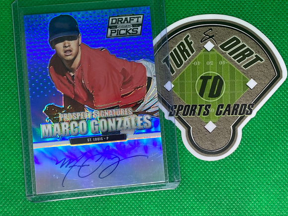 2013 Panini Prizm Perennial Draft Picks Prospect Signatures Blue Prizms #20 Marco Gonzales 55/75