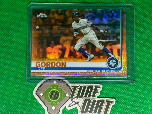 2019 Topps Chrome Orange Refractors #196 Dee Gordon 3/25