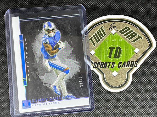 2020 Panini Impeccable Silver #33 Kenny Golladay #29/50
