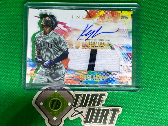 2020 Topps Inception Patch Autographs #IAPKL Kyle Lewis 190/199