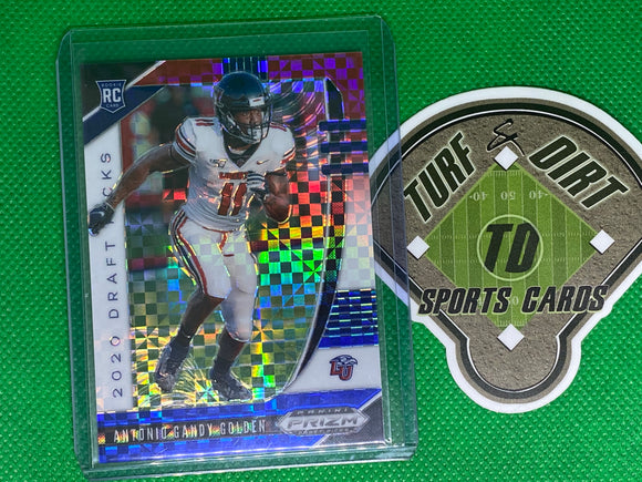 2020 Panini Prizm Draft Picks Prizms Red White and Blue #167 Antonio Gandy-Golden 8/99