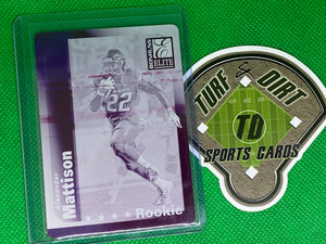2019 Elite '99 Elite Rookies Plates and Patches Printing Plates Magenta #131 Alexander Mattison 1 of 1