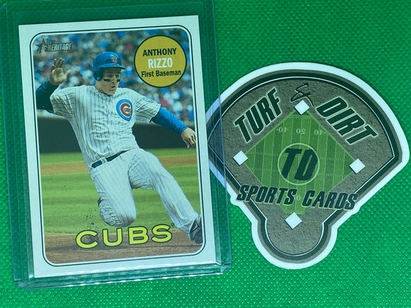 2018 Topps Heritage Action Variations #20 Anthony Rizzo