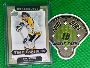 2018-19 Chronology Time Capsules #TC34 Phil Esposito Ripped
